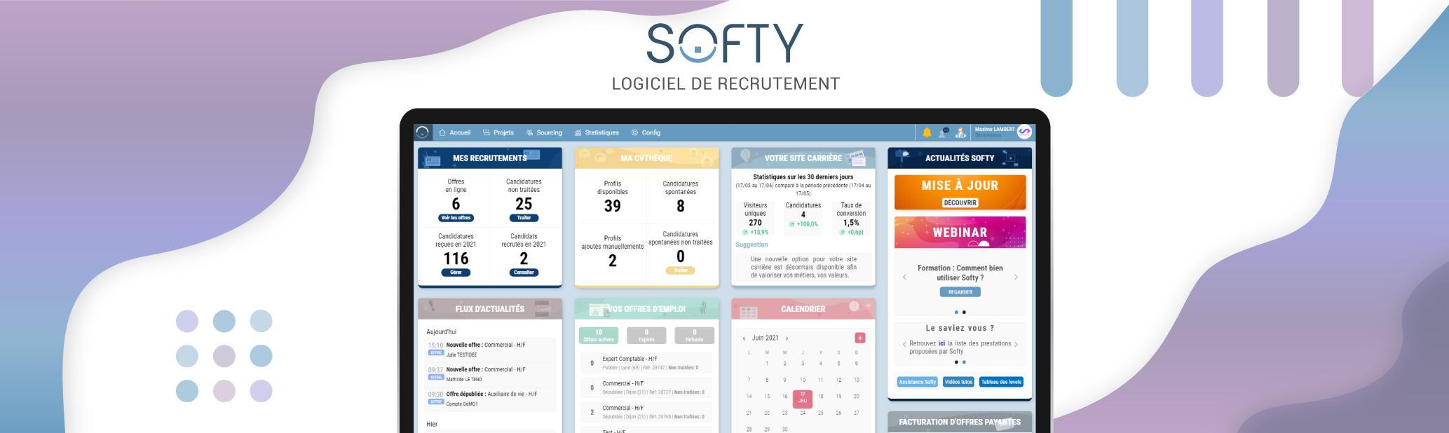 Avis Softy : Recrutez à 360° : multidiffusion, tri et analyse des profils - appvizer