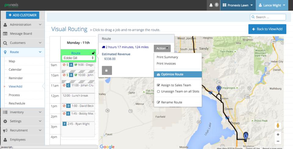 Pronexis Lawn Software-screenshot-0