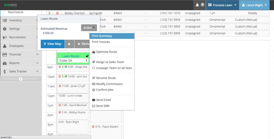Pronexis Lawn Software-screenshot-1