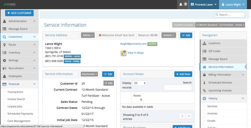 Pronexis Lawn Software-screenshot-3