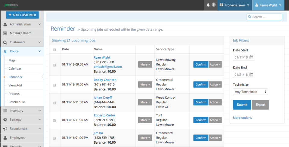 Pronexis Lawn Software-screenshot-4