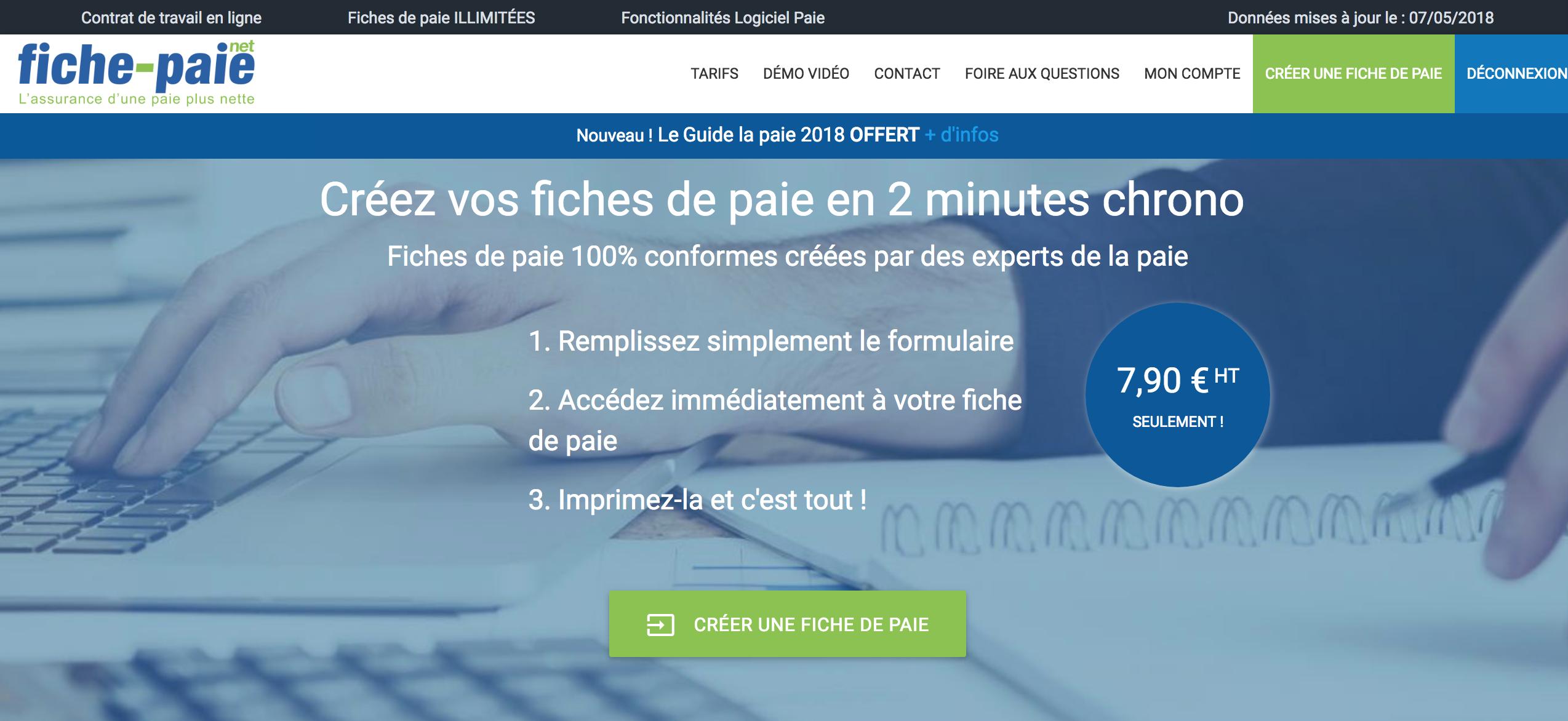 Fiche-Paie.net logiciel de paie en mode SaaS le plus économique du marché.