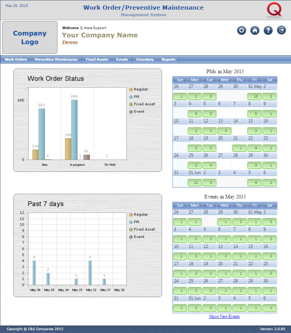 Q Ware CMMS-screenshot-0