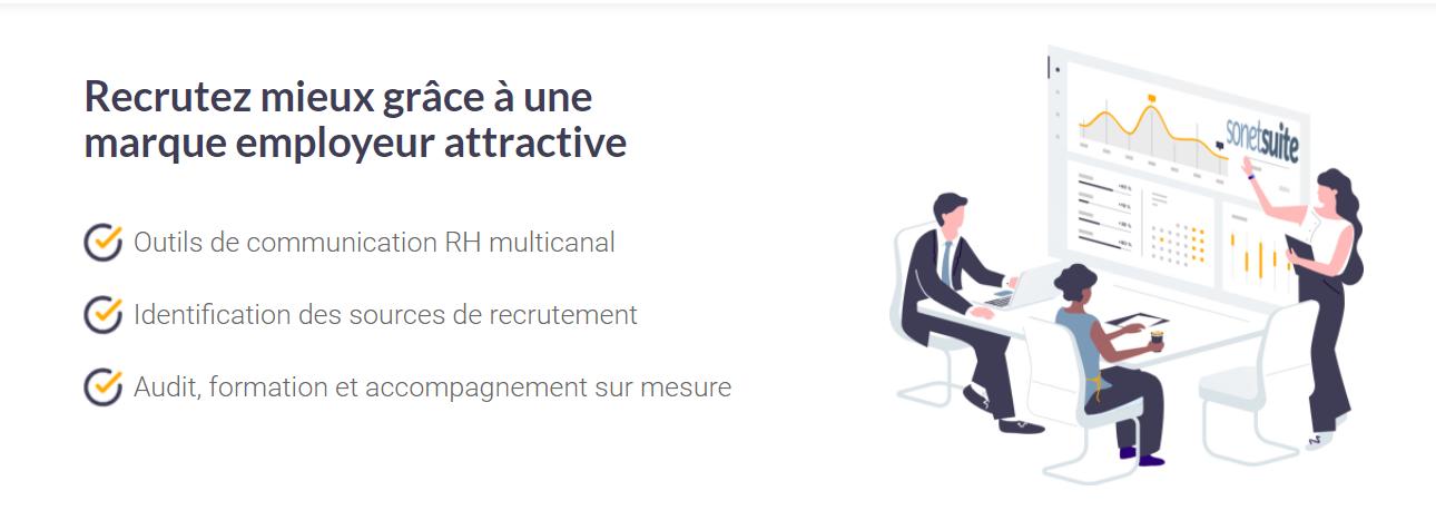 Avis SonetSuite : Recrutez mieux grâce à une marque employeur attractive - Appvizer