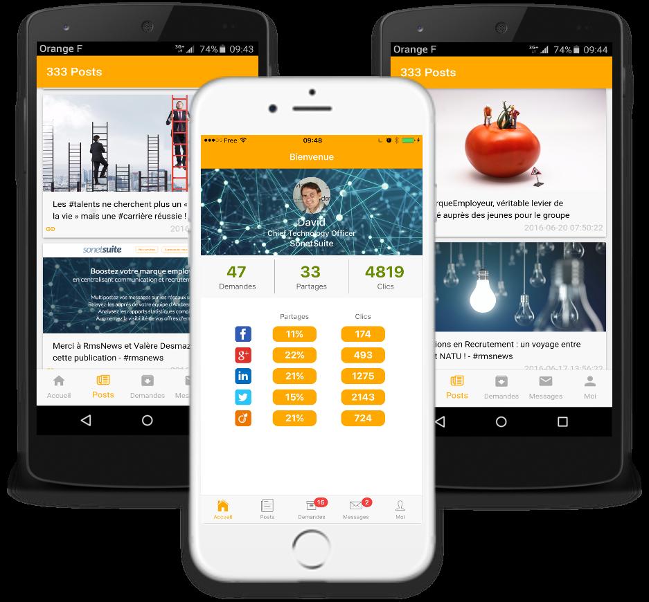 Application mobile ambassadeur