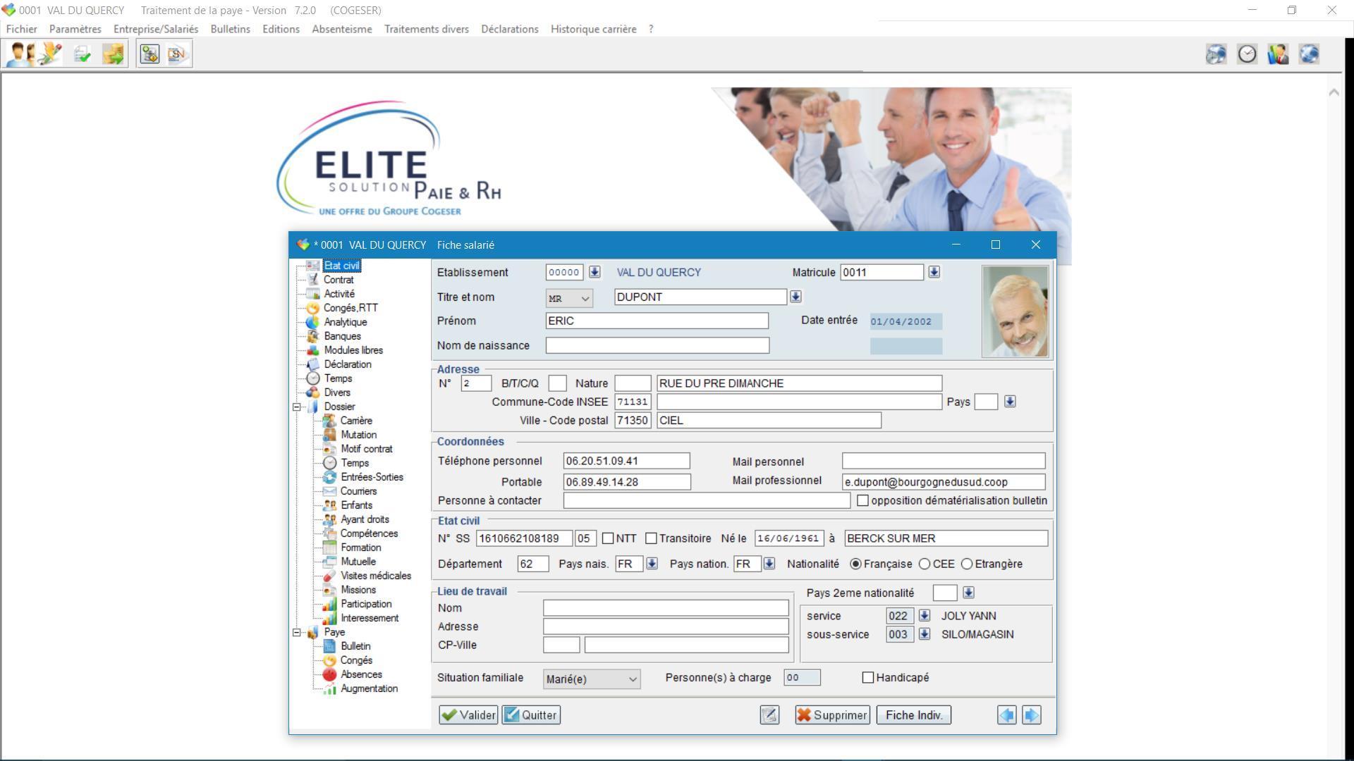 elite logiciel paie ressources