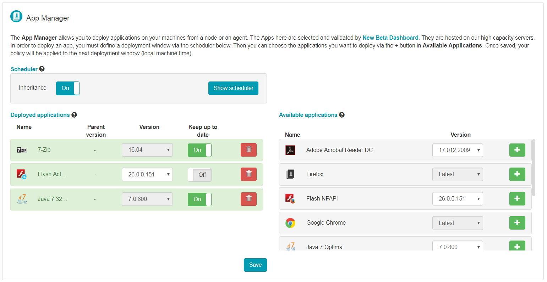 RG Supervision : l'App Manager vous permet de déployer des applications de manière massive sur votre parc et de les maintenir à jour automatiquement