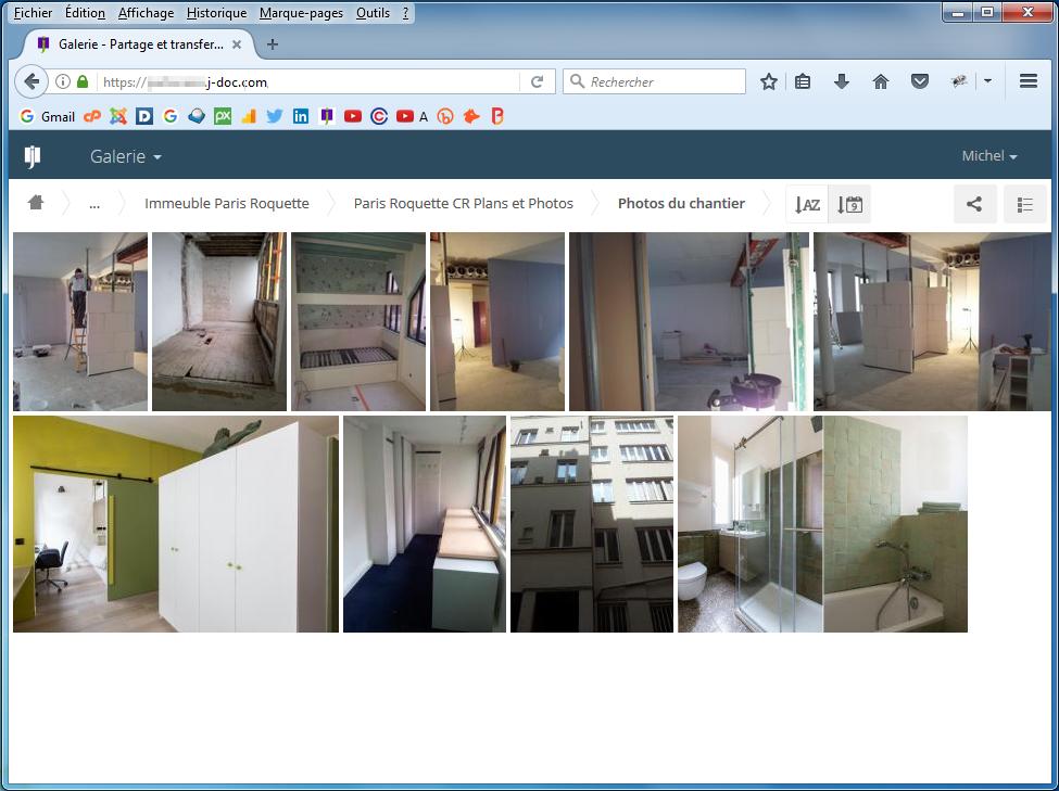 Partage de photos dans J-Doc : l'outil permet de visualiser très facilement les photos, mais aussi les vidéos et les enregistrements sons.
