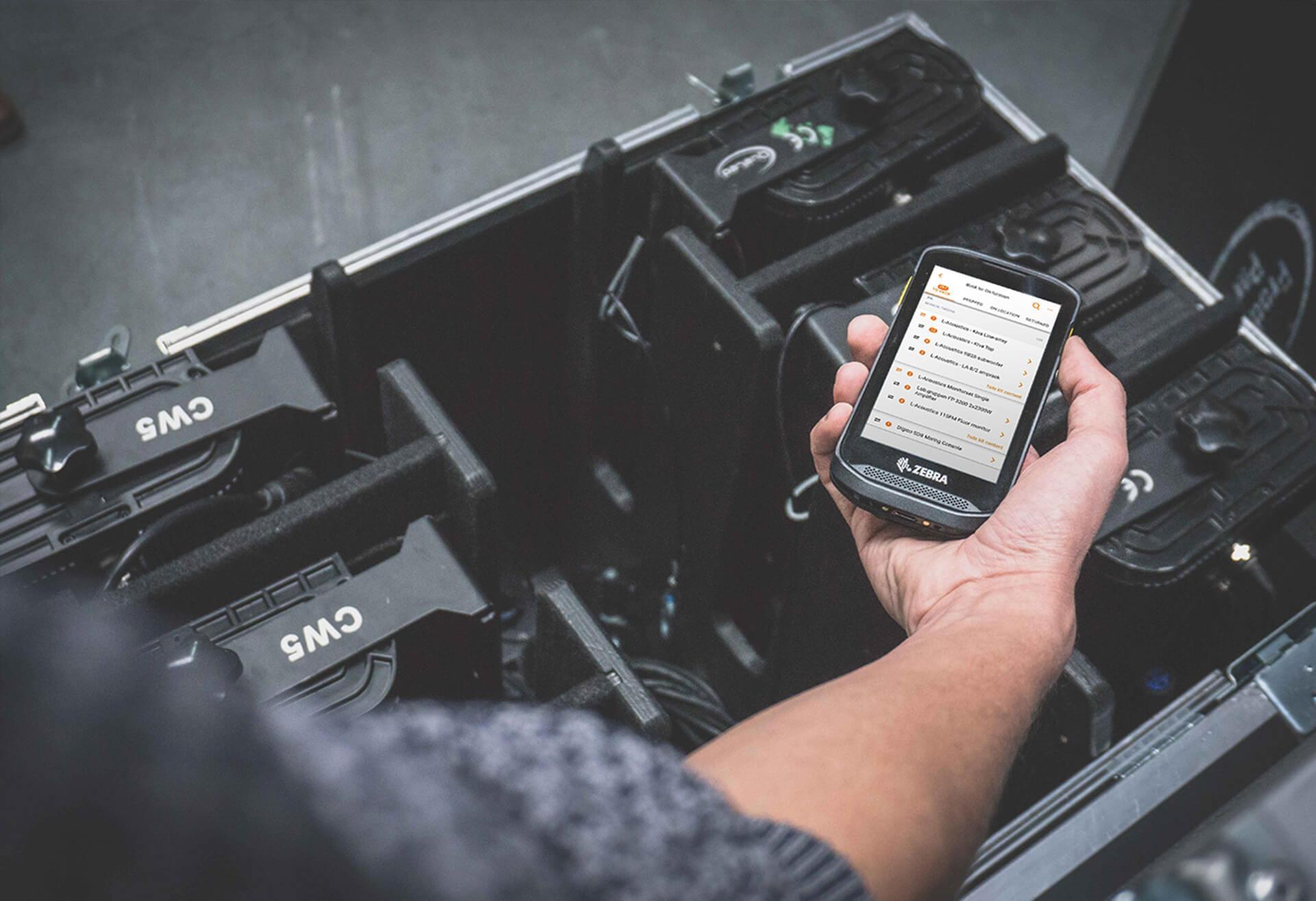 Rentman-App zebra scanner