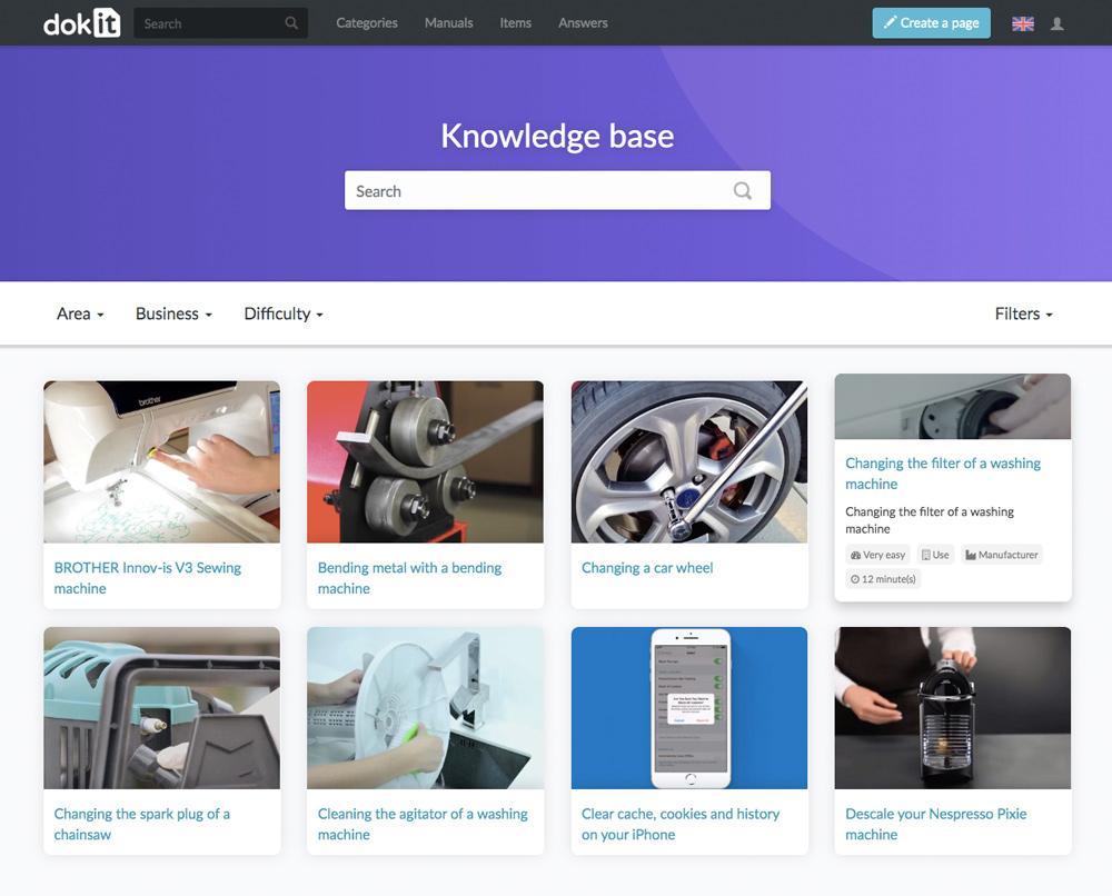 Page d'accueil visuelle