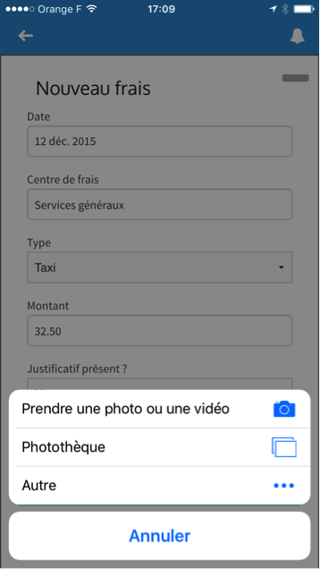 Application mobile Gestion des Notes de frais