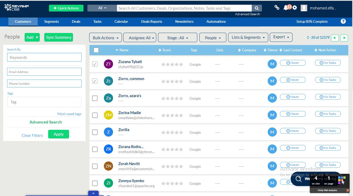 Avis Revamp CRM : Logiciel de Customer relationship management (CRM) - appvizer