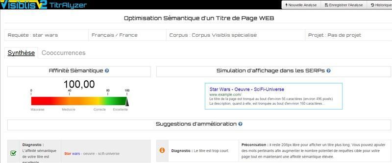 visiblis : outils d'analyse sémantique pour optimisation SEO ⇒ Avis et prix