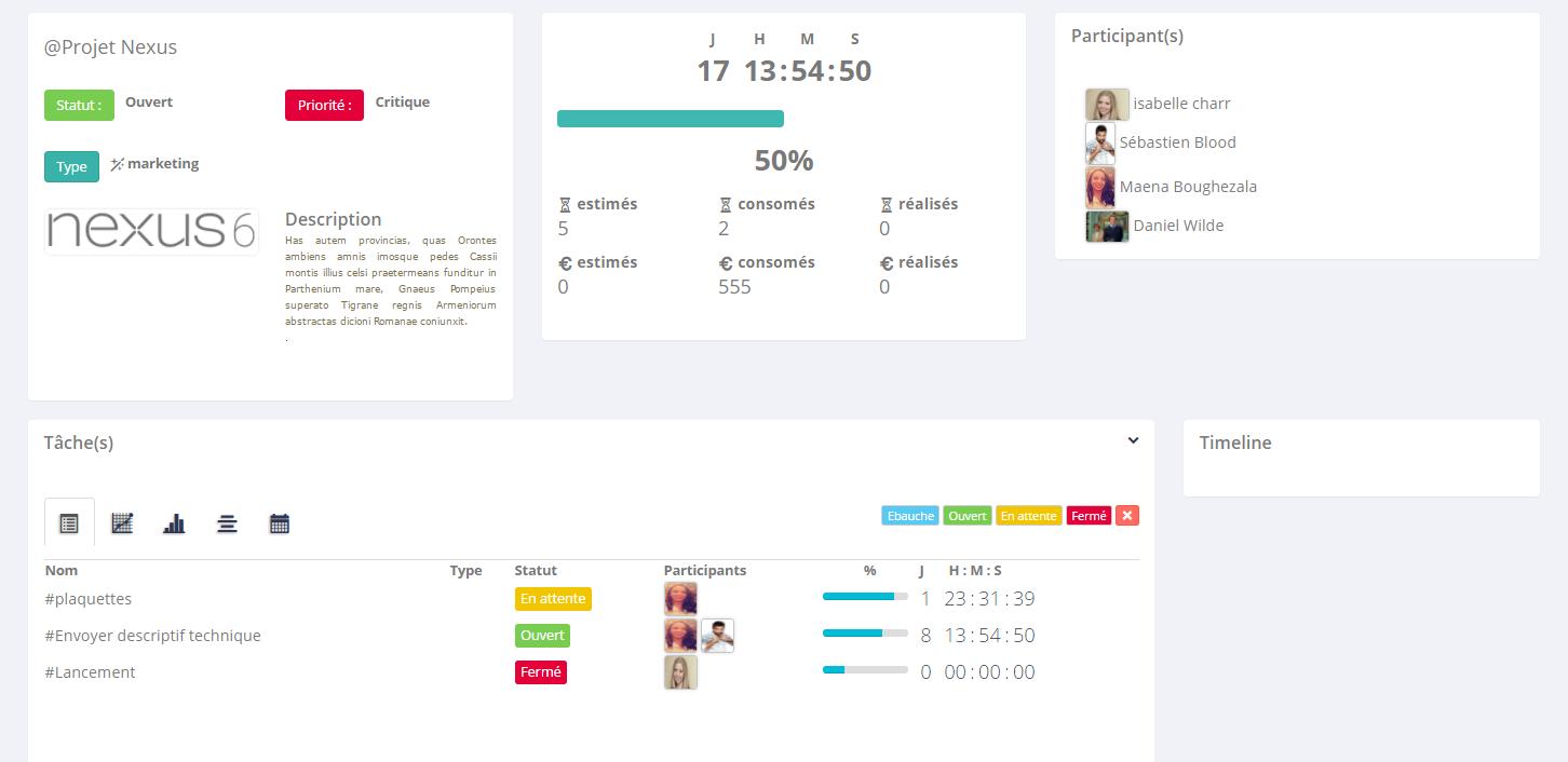 SocialJsProjet suivi des temps et des budgets