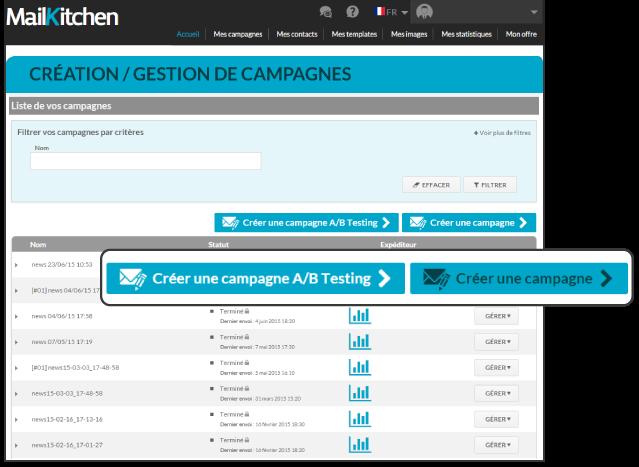 Créez votre campagne Emailing