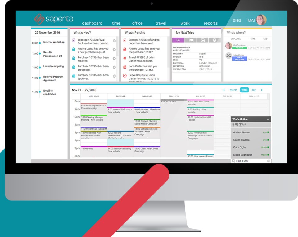 Sapenta Smartworking Platform-screenshot-0