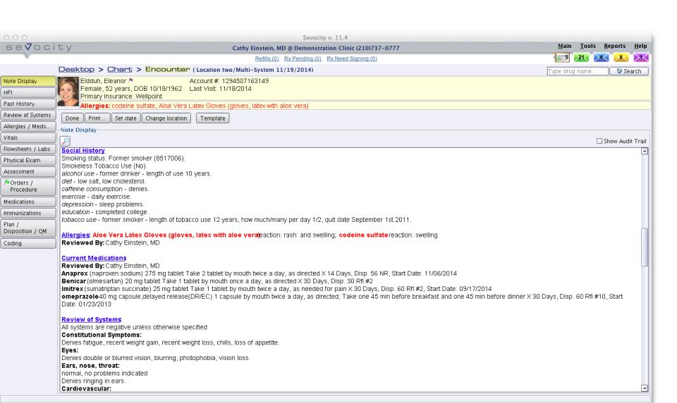 Sevocity EHR-screenshot-2