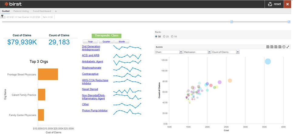 Birst: Tableaux de bord, Indicateurs clefs de performance (KPI), Requêtes personnalisées