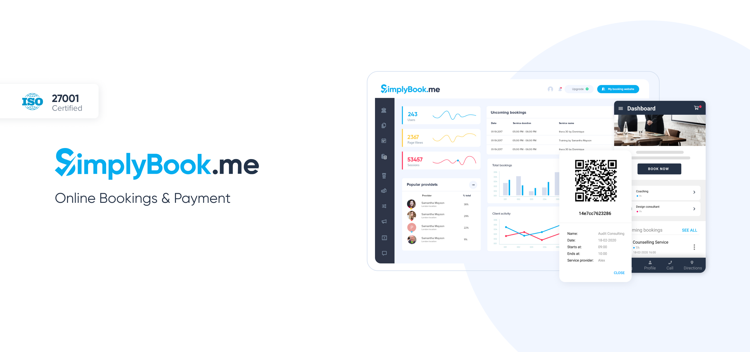 Avis SimplyBook.me : Gestion complète des réservations pour PME - Appvizer