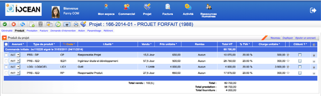 iovision: Planification de projets, Import et export de données (CSV, XLS), Frais de déplacement