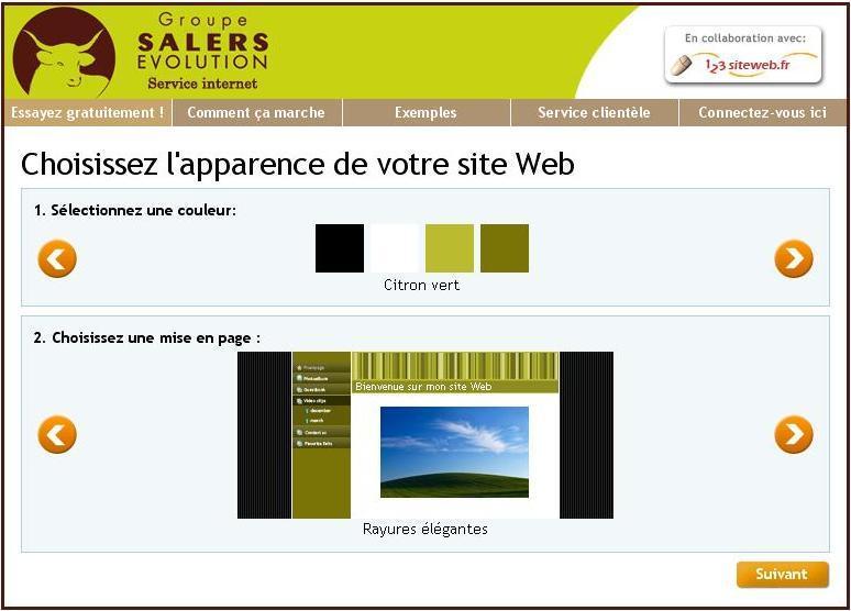 123siteweb: Lecteur vidéo, Blog et articles, Modèles de sites web