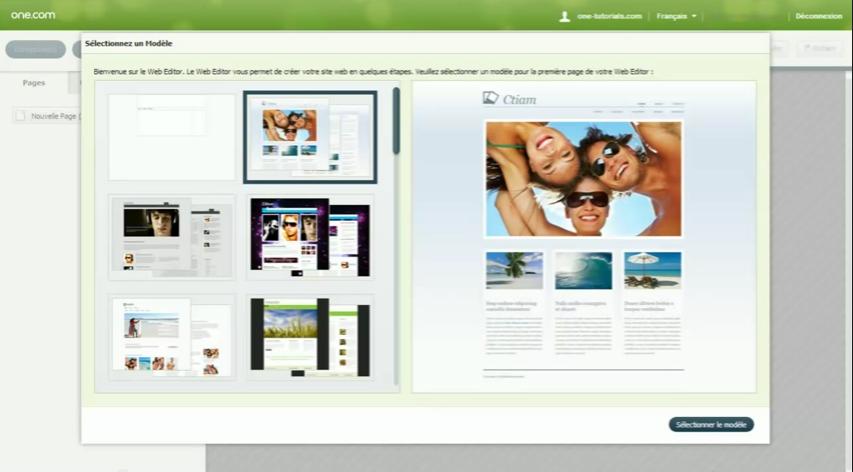 Web Editor: Blog et articles, Moteur de recherche, Nom de domaine personnalisé