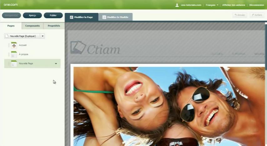 Web Editor: Logo personnalisable, Menus et navigation, Hébergement de site Web