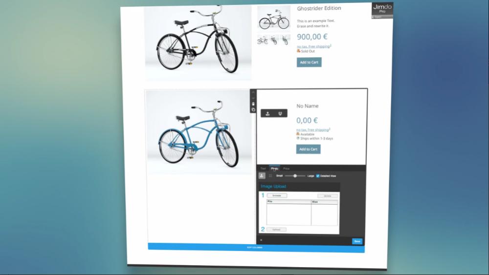 Jimdo: Design Responsive, Nom de domaine personnalisé, Interface web adaptive