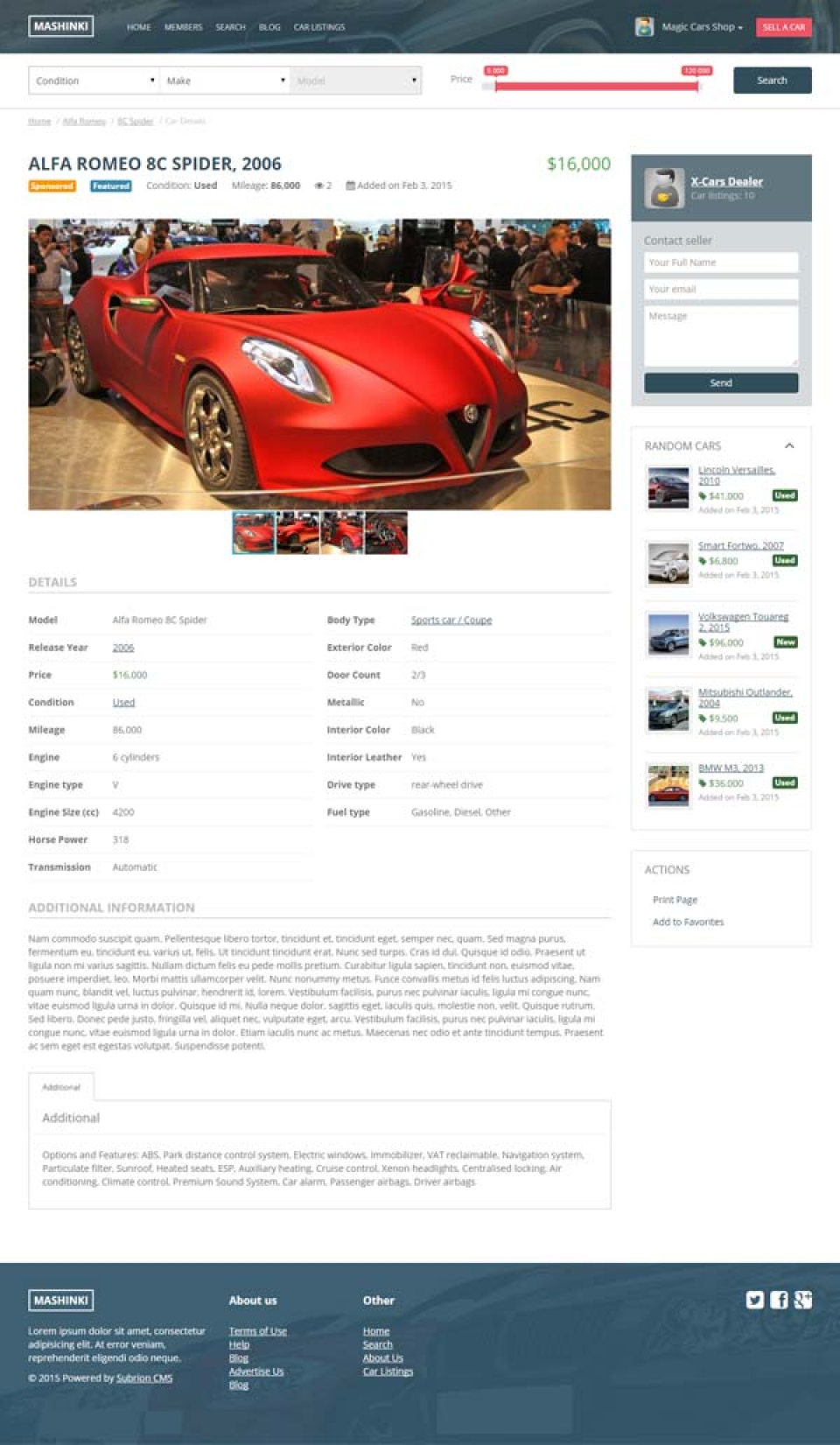 Subrion Auto Classified-screenshot-2