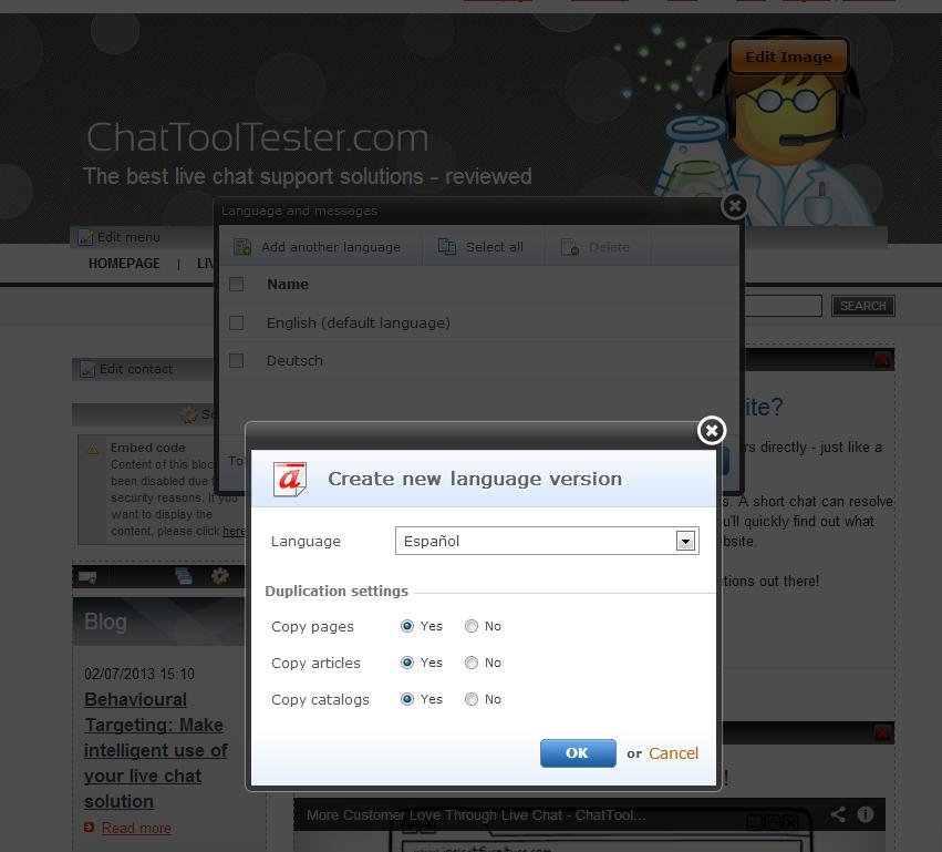 Webnode: Design Responsive, Panier d'achat, Formulaire de contact