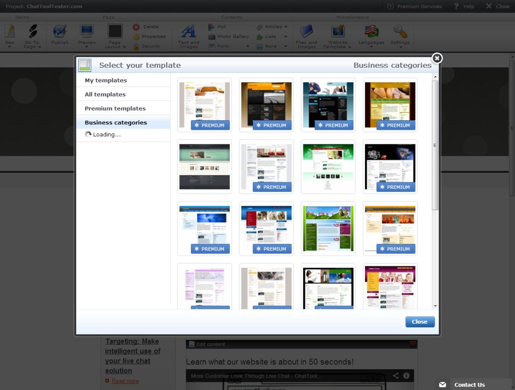 Webnode: Logo personnalisable, Galerie de photos, Base de savoir (tutoriels, démos)