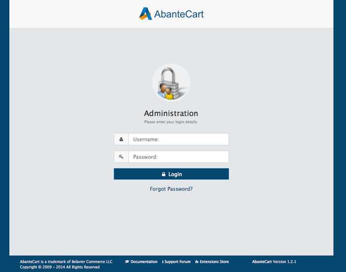AbanteCart-screenshot-0