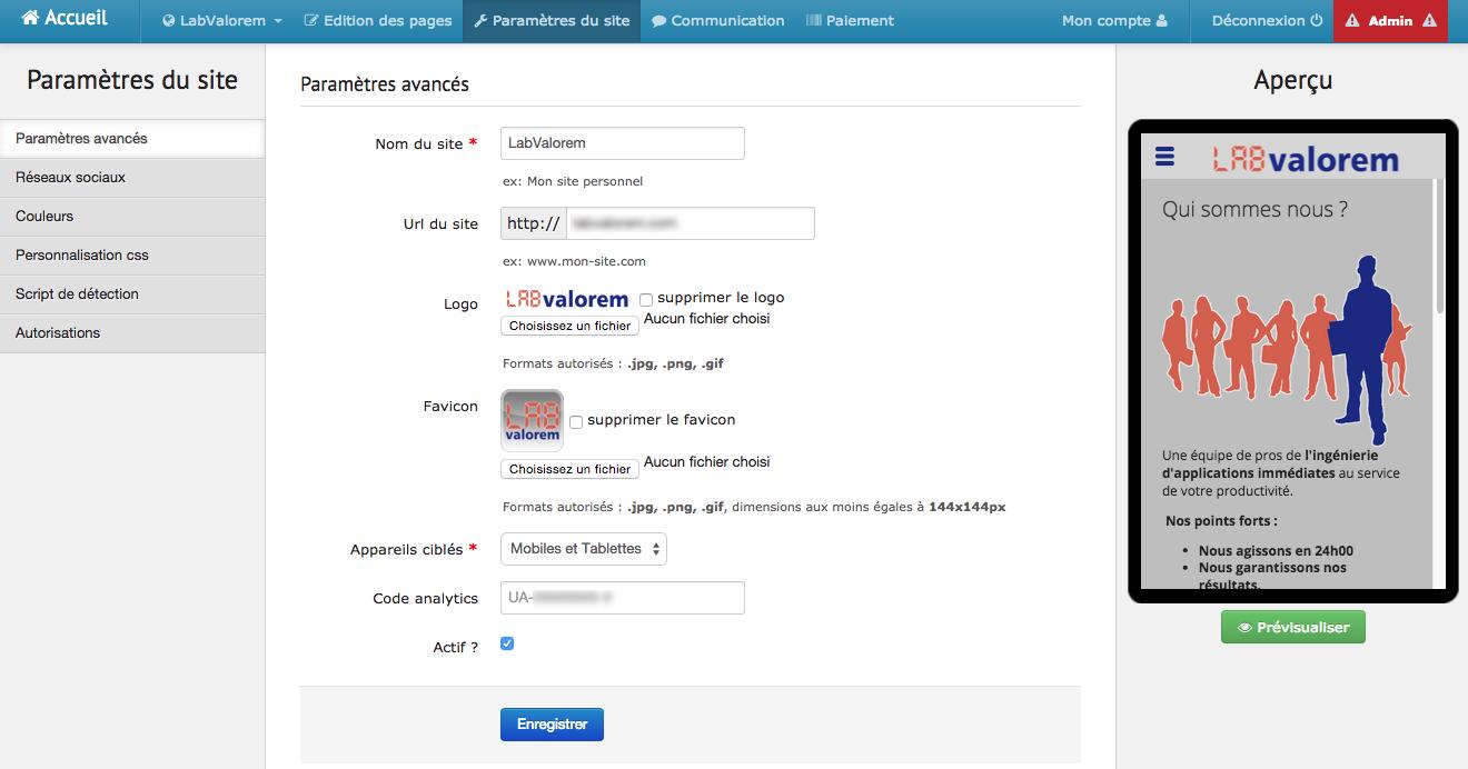 Lexik Mobile: QR Code, Feuille de style personnalisée (CSS), Lecteur vidéo