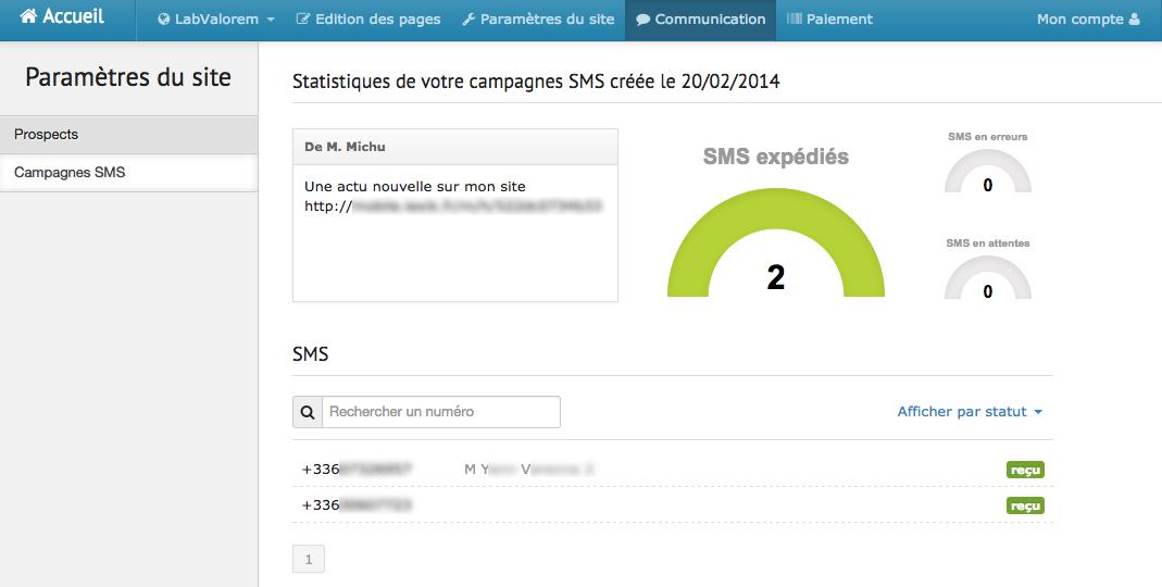 Lexik Mobile: Editeur de pages (glisser/déposer), QR Code, Support (téléphone, email, ticket)