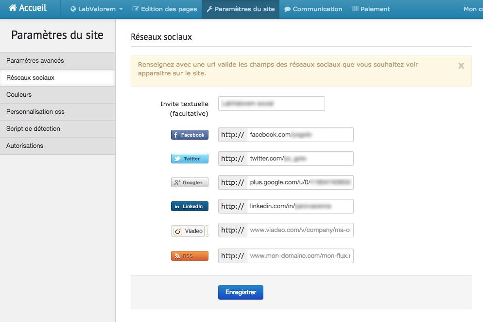 Lexik Mobile: Site Web (plugin, formulaire), Intégration aux réseaux sociaux, Gestion des leads