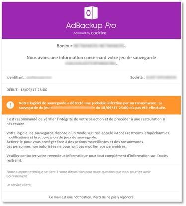 Alertes ransomware et intégrité du disque