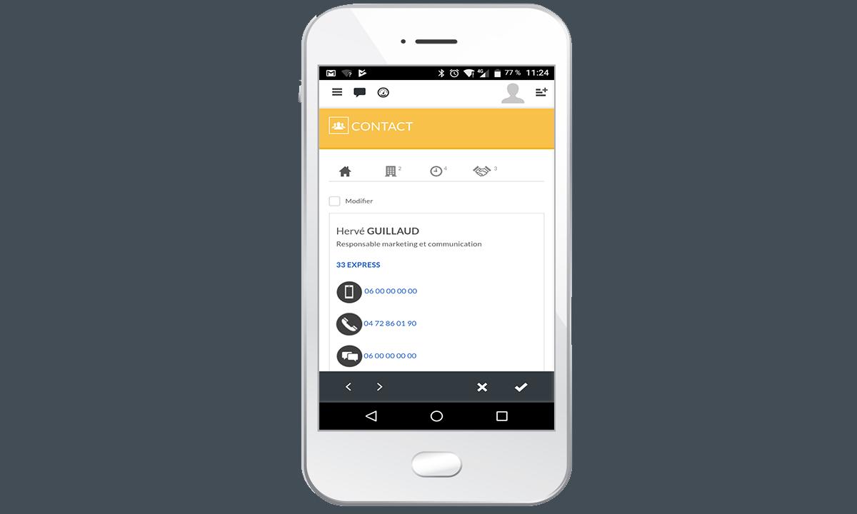 l'application Yellowbox CRM
