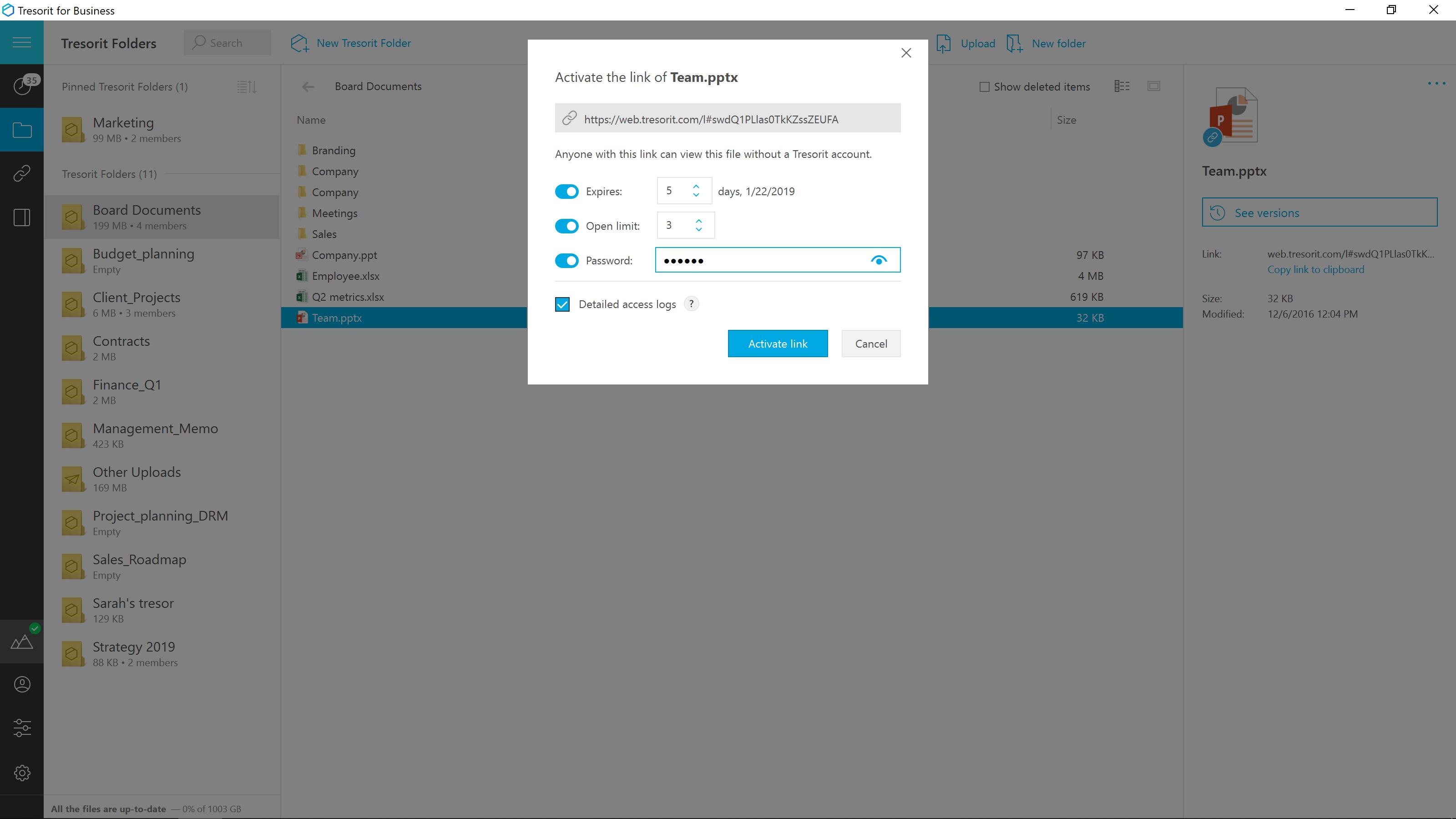 Tresorit - link settings.png