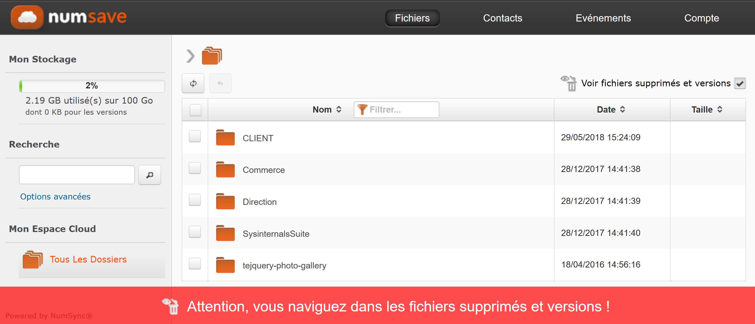Accédez à vos dernières versions de fichiers dans le web et restaurez les, facilement!