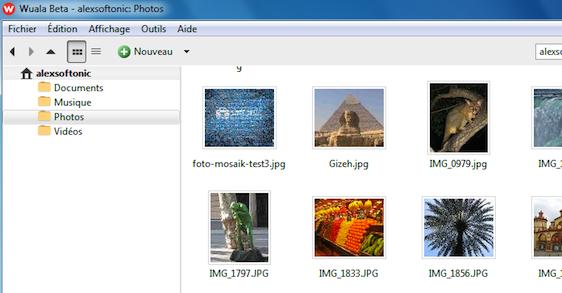 Wuala: Versions des documents, Compatible Linux OS, Dossiers partagés