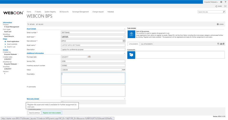 WEBCON Business Process Suite-screenshot-1