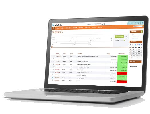 E-DEAL SERVICE Gestion des demandes, sollicitations avec système d'alertes