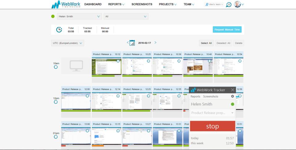 WebWork Time Tracker-screenshot-1