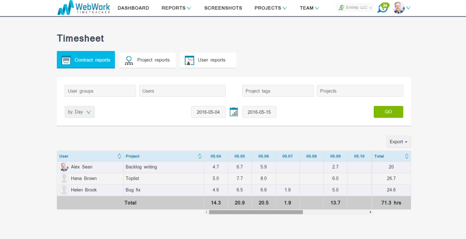 WebWork Time Tracker-screenshot-2