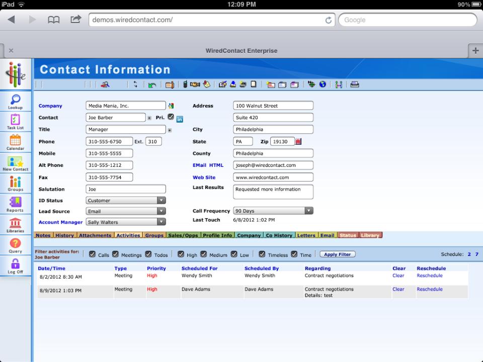 WiredContact Enterprise-screenshot-0