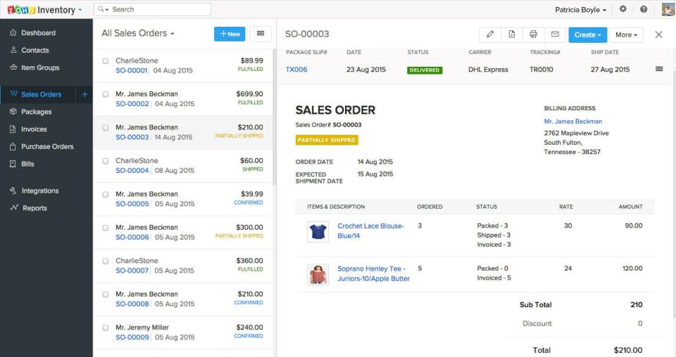 Zoho Inventory-screenshot-1