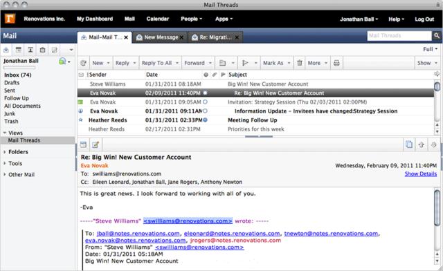 SmartCloud: Appels téléphoniques en VoIP, Librairie de documents, Recherche plein texte