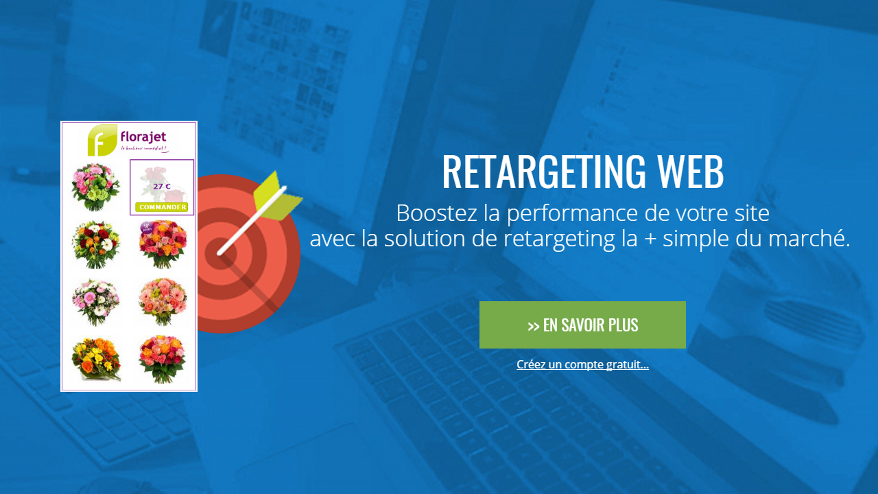 Aza Retarget Web : Boostez la performance de votre site avec la solution de retargeting la + simple du marché.