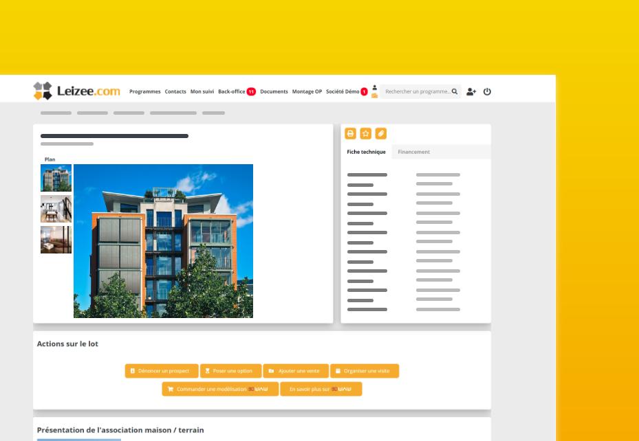 Page d'un programme immobilier