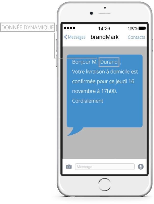 iSend Pro : personnalisation des SMS avec le prénom du client